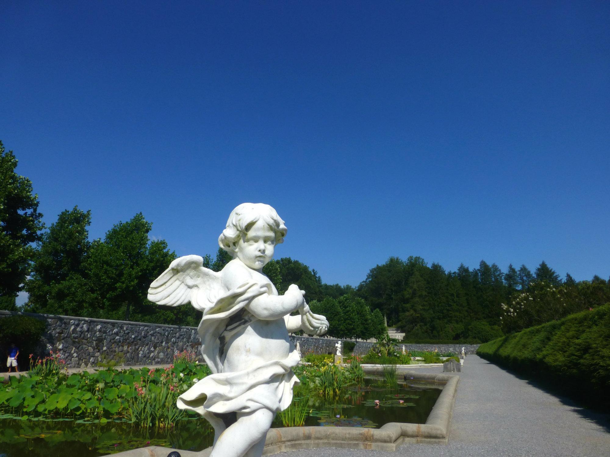 Biltmore Italian Garden Cherub Statue August 2012