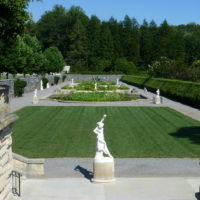 Biltmore Italian Garden from Stairs July 2012