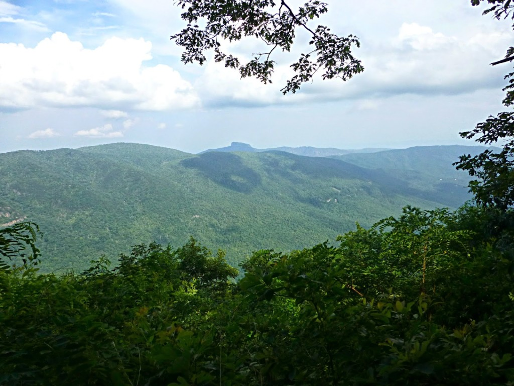 View of Table Rock from Chestoa View Trail