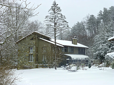 Bed & Breakfast in the woods after a big snowfall
